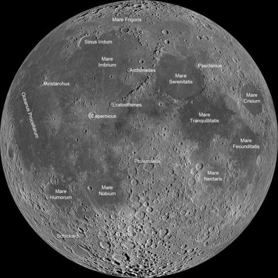 mapa de la luna mares