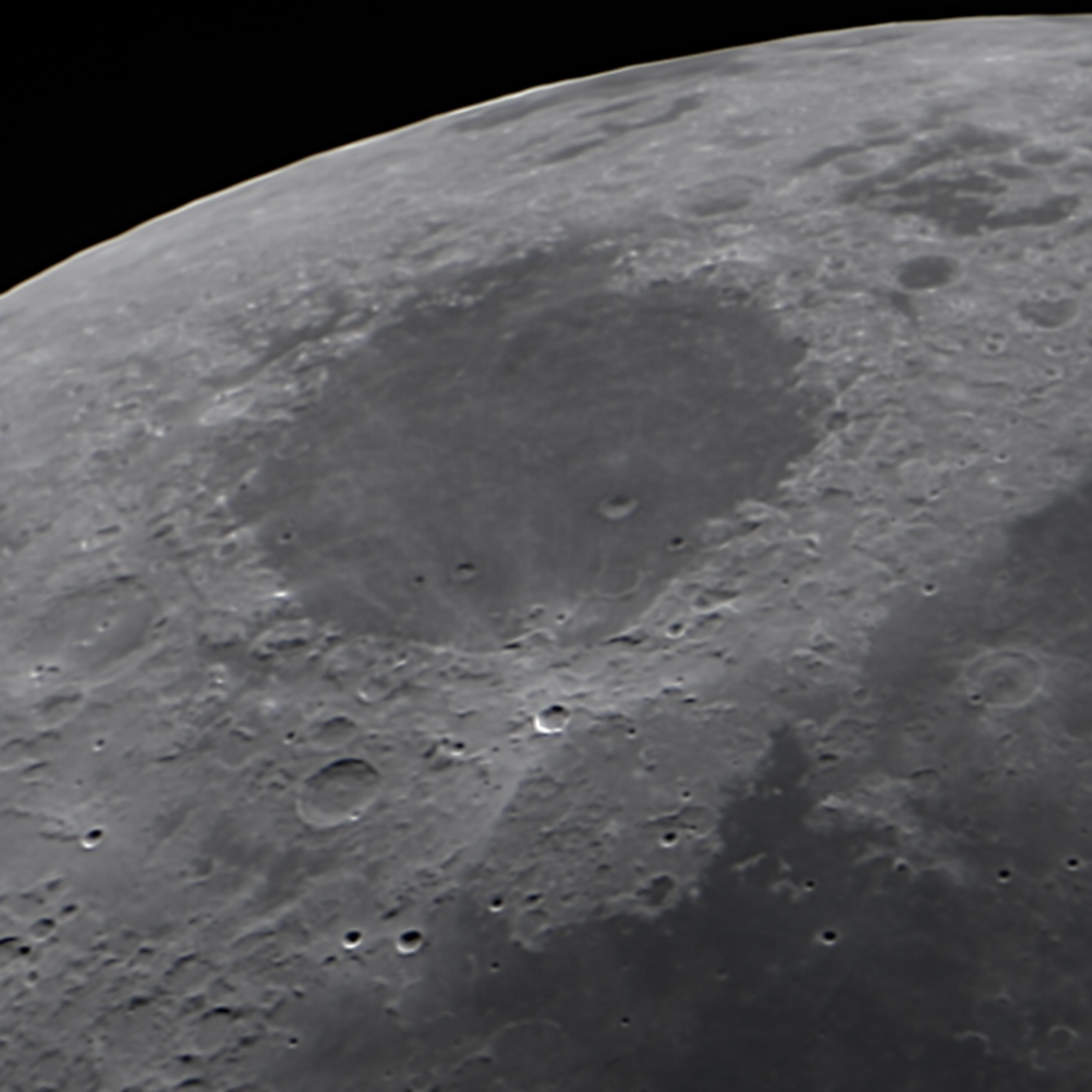 telescopio para ver superficie lunar
