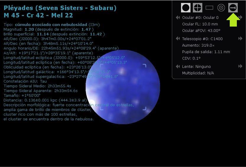 stellarium simular telescopio