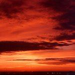 cielo rojo atardecer