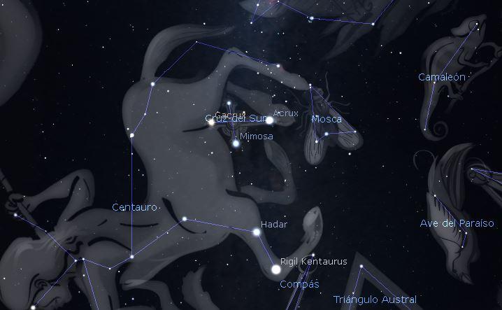 hemisferio sur constelacion cruz del sur