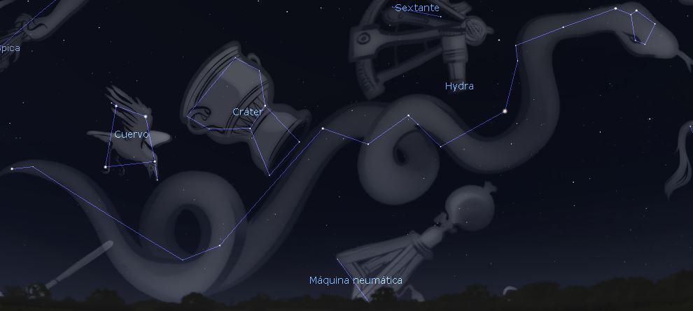 constelacion mas grande de todas - constelacion hidra